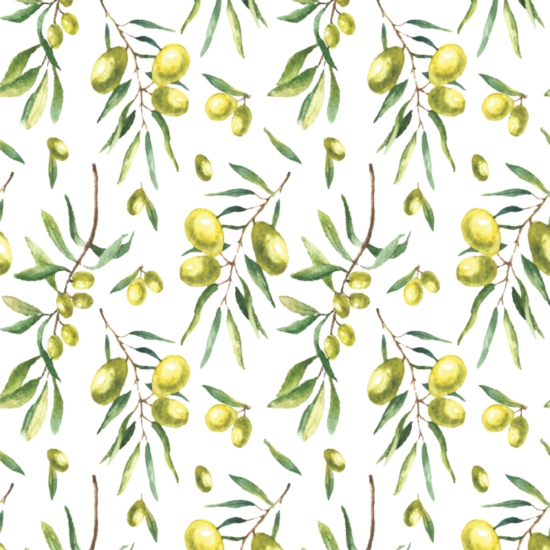 Green Olive branch Pattern Self adhesive Peel and Stick 800x800