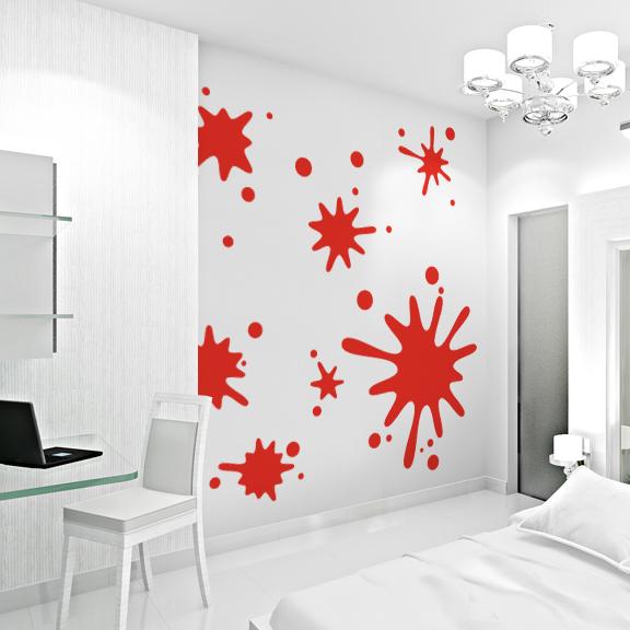 Splash Colorful Room Wall: Paint Splatter Wallpaper For Room