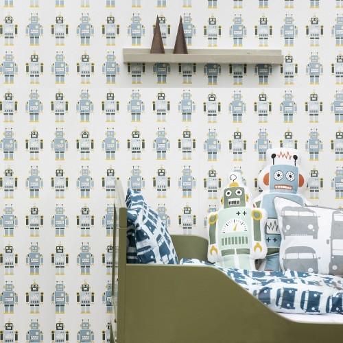 Robots Wallpaper for Kids Ferm Living Robots Wallpapers YLiving 500x500