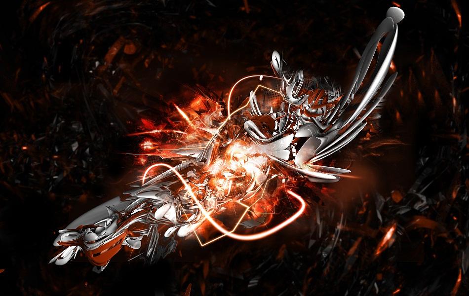 Orange Abstract HD Wallpaper 1080p   HD Dock 950x600