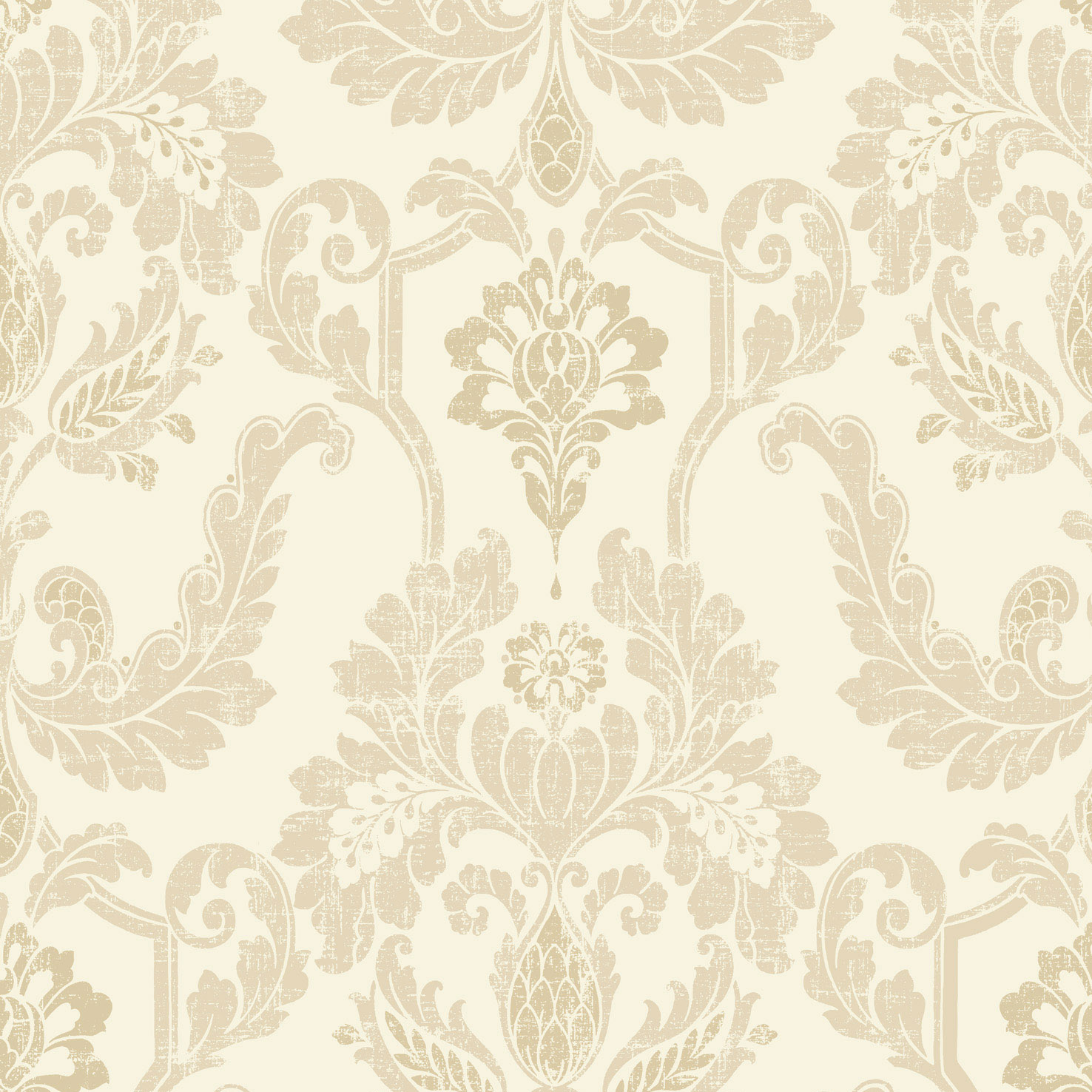 Cream And Gold Damask Wallpaper Feature wallpaper   product 1476x1476