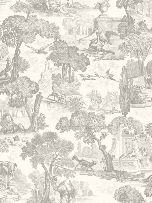 Versailles Toile Wallpaper A classic Toile de Jouy design of finely 534x711