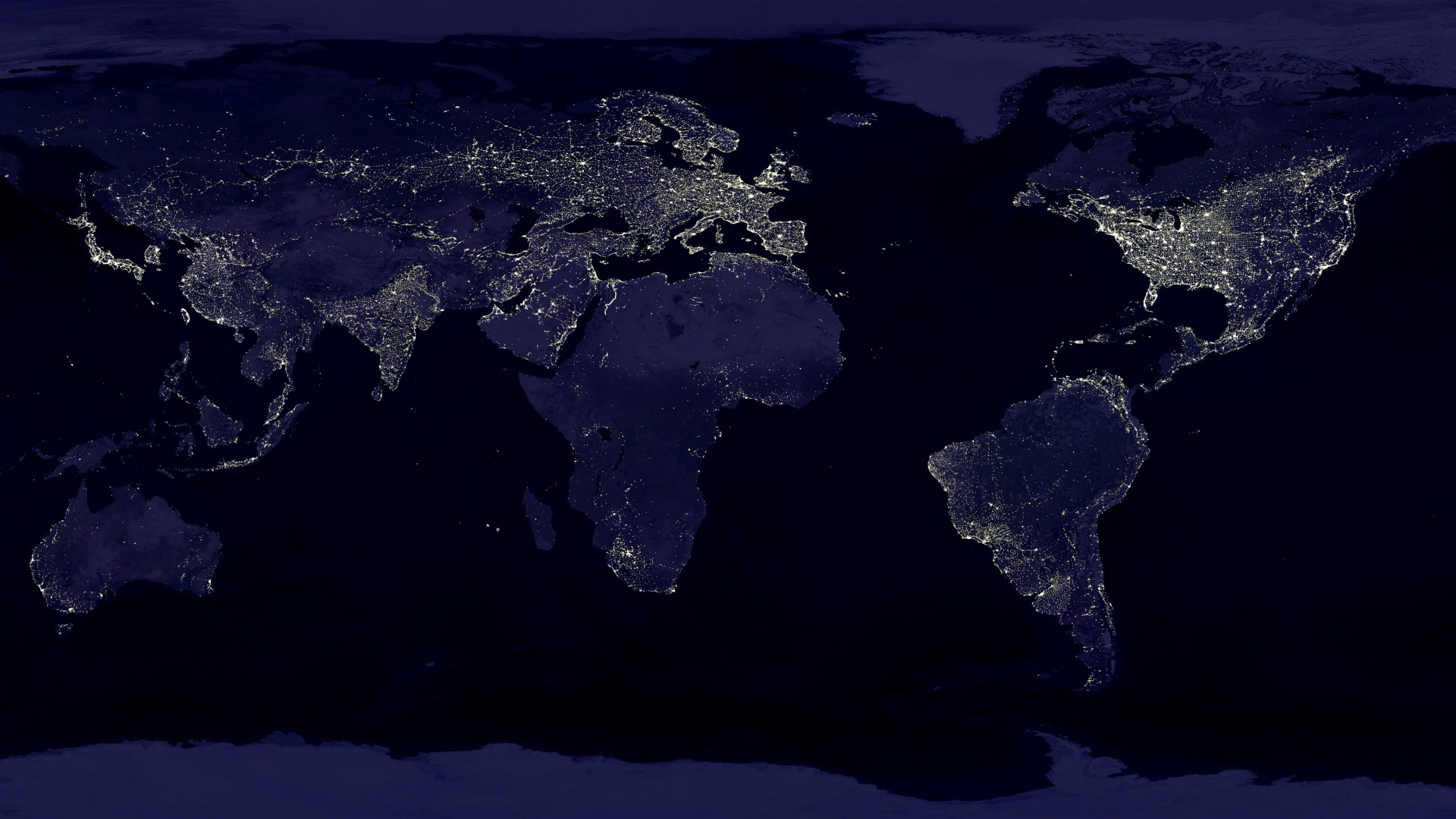 Earth at Night Wallpaper HD - WallpaperSafari