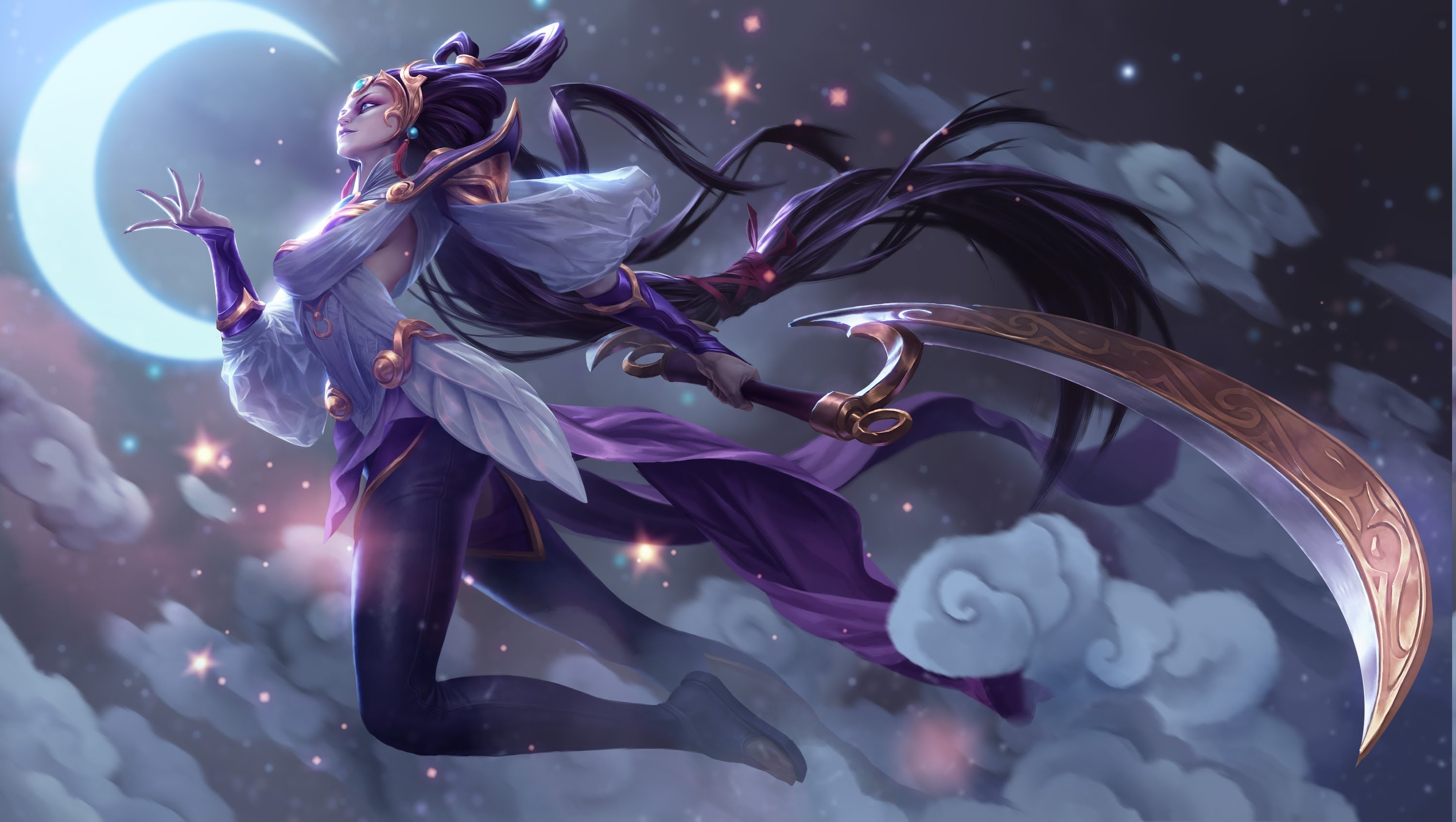 League Of Legends Video Games Digital Art Diana Wallpapers HD 3000x1694