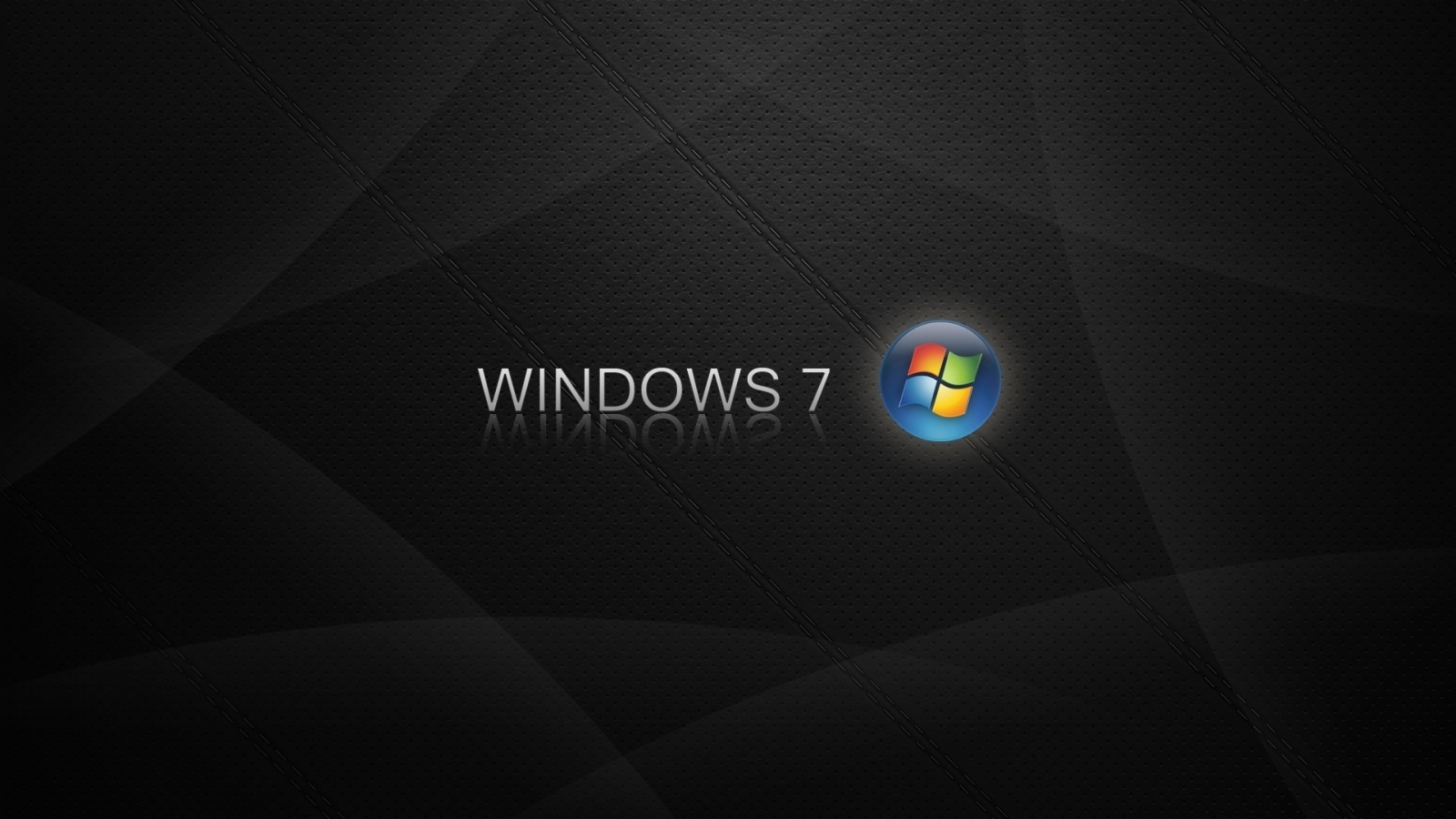 1600x900 Windows 7 Logo Blue Orange Black Wallpaper Background 1600x900