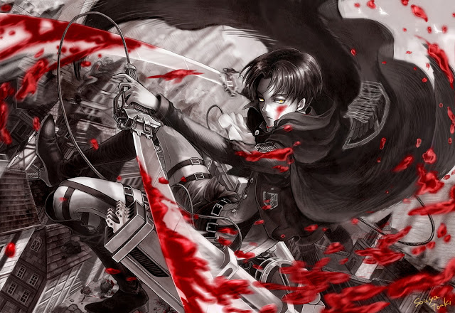 To Download or Save this cool Blood Stain Blade Levi HD Wallpaper 640x440