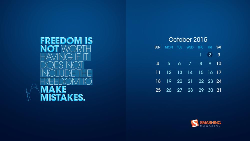 Download Smashing Magazine Desktop Wallpaper Calendar October 2015 1000x562