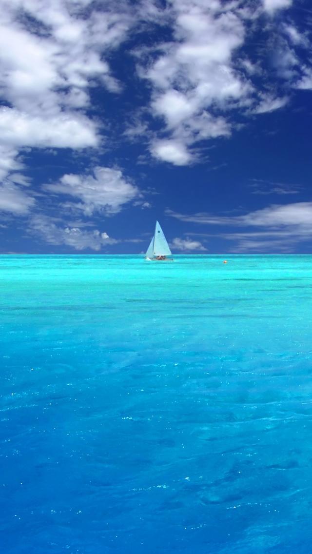 Wonderful Blue Ocean iPhone 5s Wallpaper Download iPhone Wallpapers 640x1136