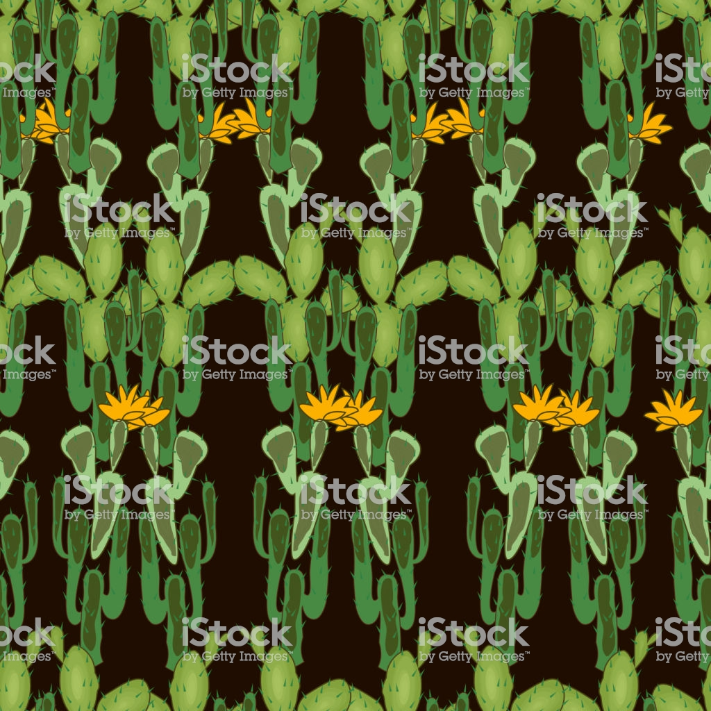 Wild West Seamless Background Cactus Peyote Buffalo Skull Pattern 1024x1024