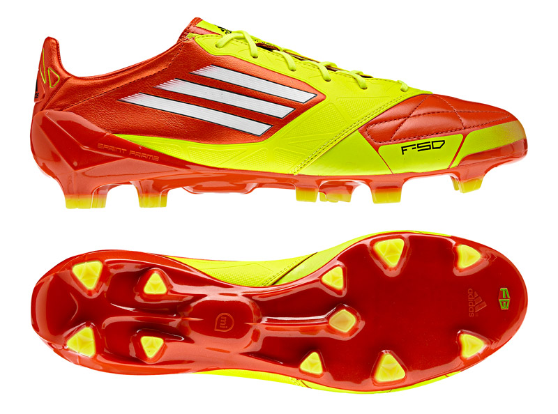 Adidas F50 Adizero Leather In Slime Adidas F50 Leather 800x594