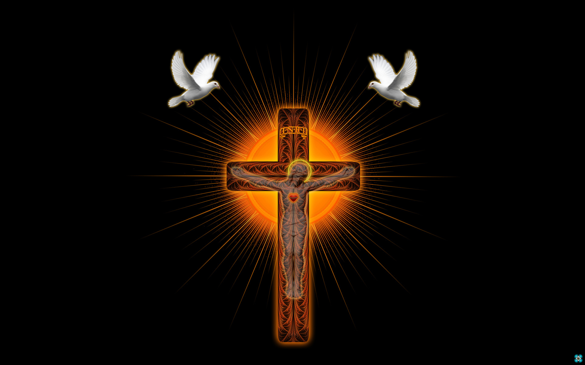 art religion catholic jesus doves birds symbols wallpaper background 1920x1200