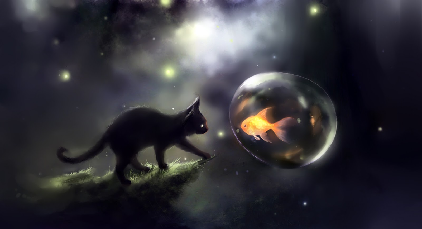 Desktop Backgrounds 4U Fantasy Cats 1600x868
