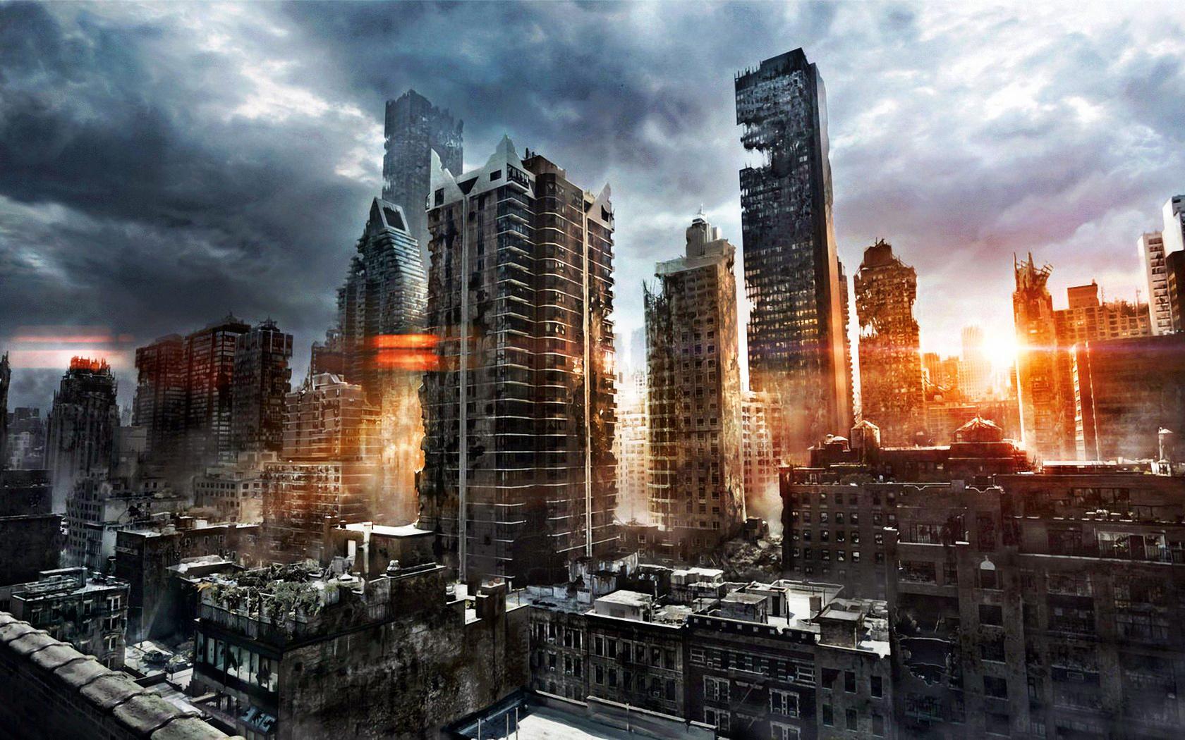 Image   Sunrise destroyed city wallpaperjpg   The Savage Lands 1680x1050