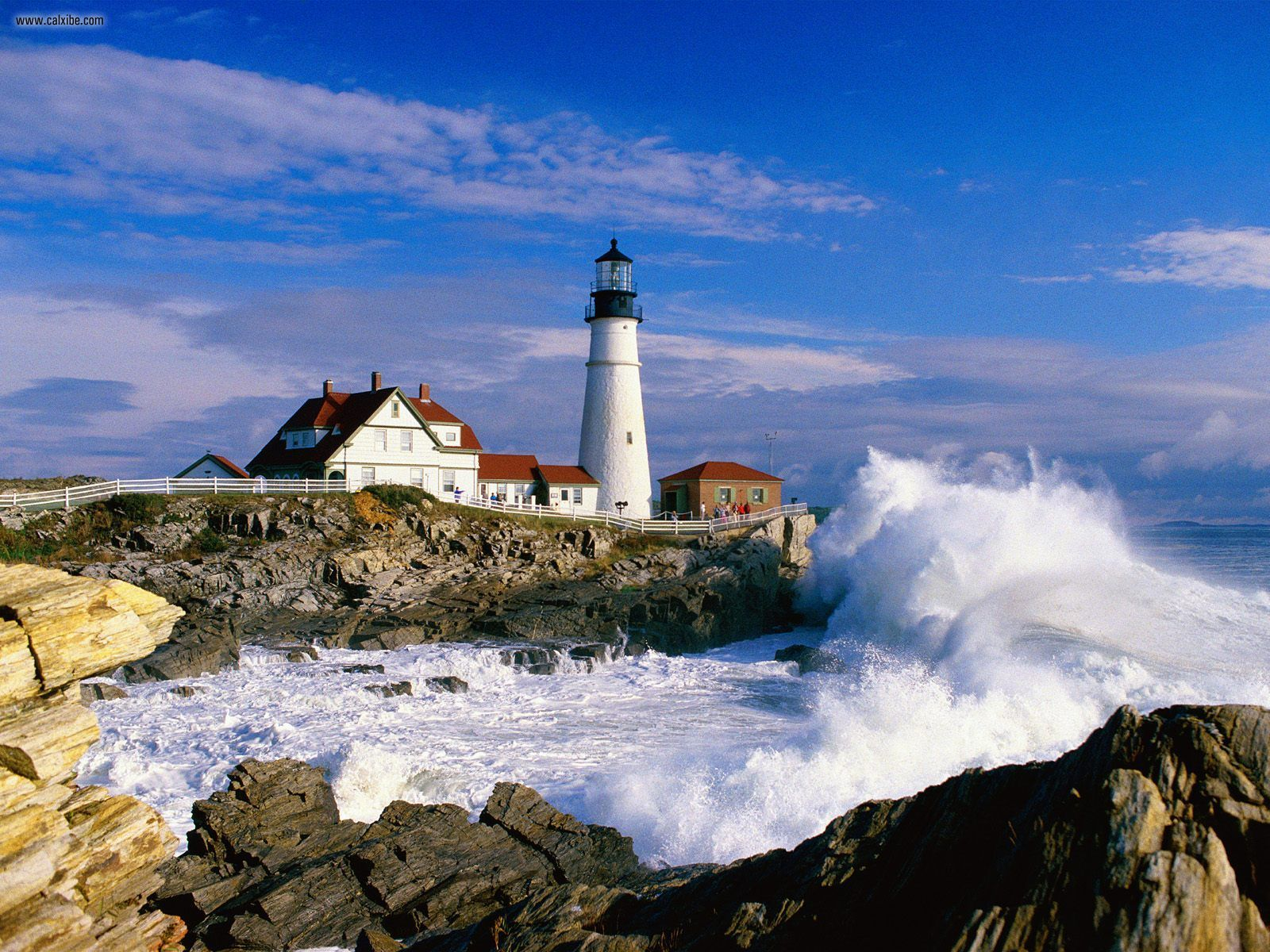 Portland Head Light Cape Elizabeth Maine desktop wallpaper nr 1600x1200