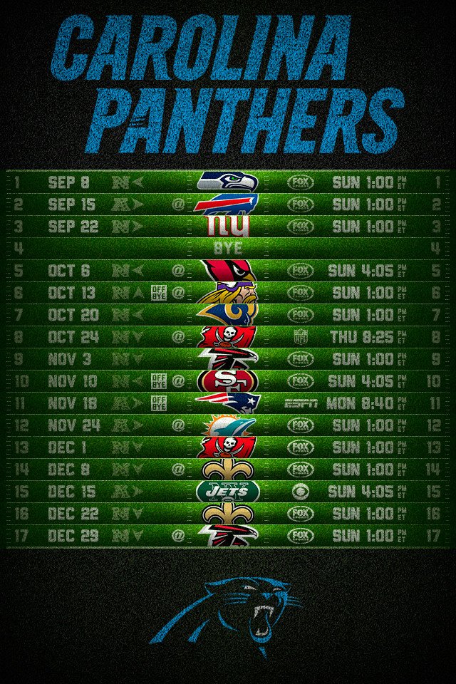Carolina Panthers 2013 Football Schedule iPhone 4 Wallpaper 640x960 640x960