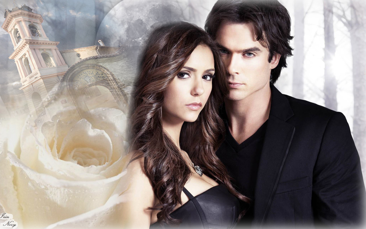 DamonElena   The Vampire Diaries TV Show Wallpaper 16025506 1280x800