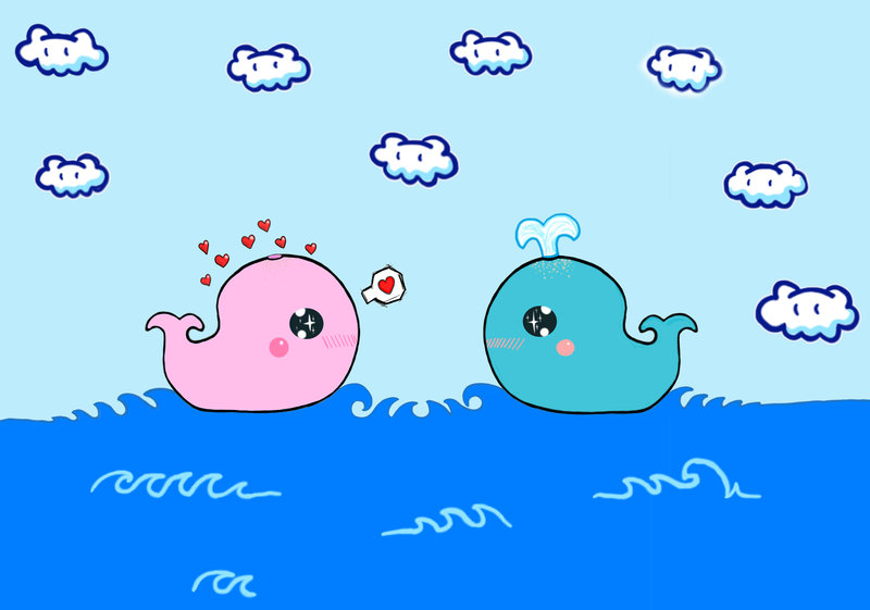 Cute Whale Wallpaper Cute whales by kinky redkitty 800x561