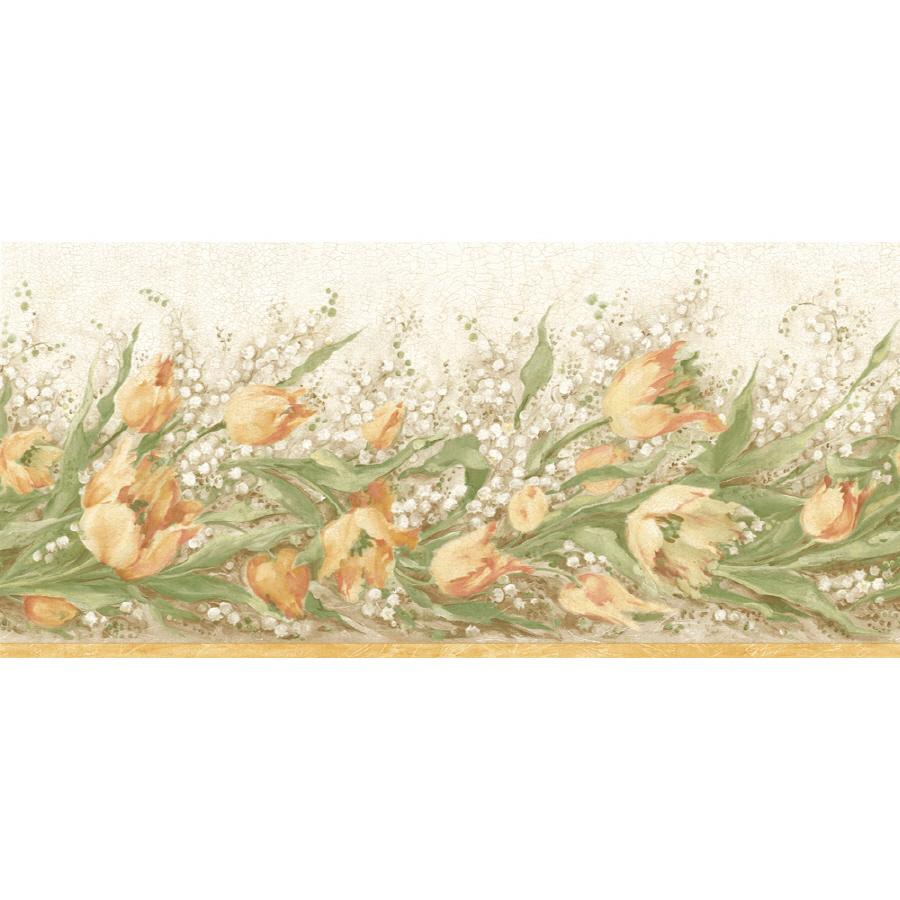 Sanitas 9 34 Floral Trail Prepasted Wallpaper Border at Lowescom 900x900