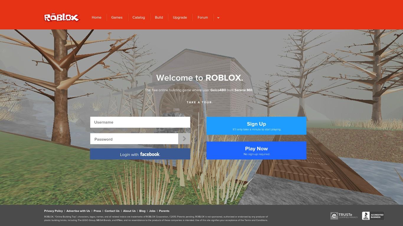Roblox Wallpaper 2014 Registration page 1366x768