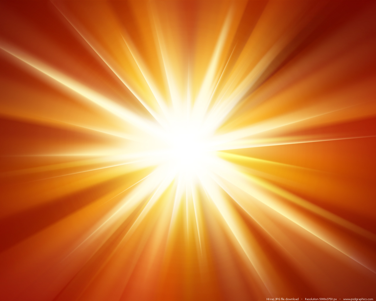 Orange light burst background PSDGraphics 1280x1024