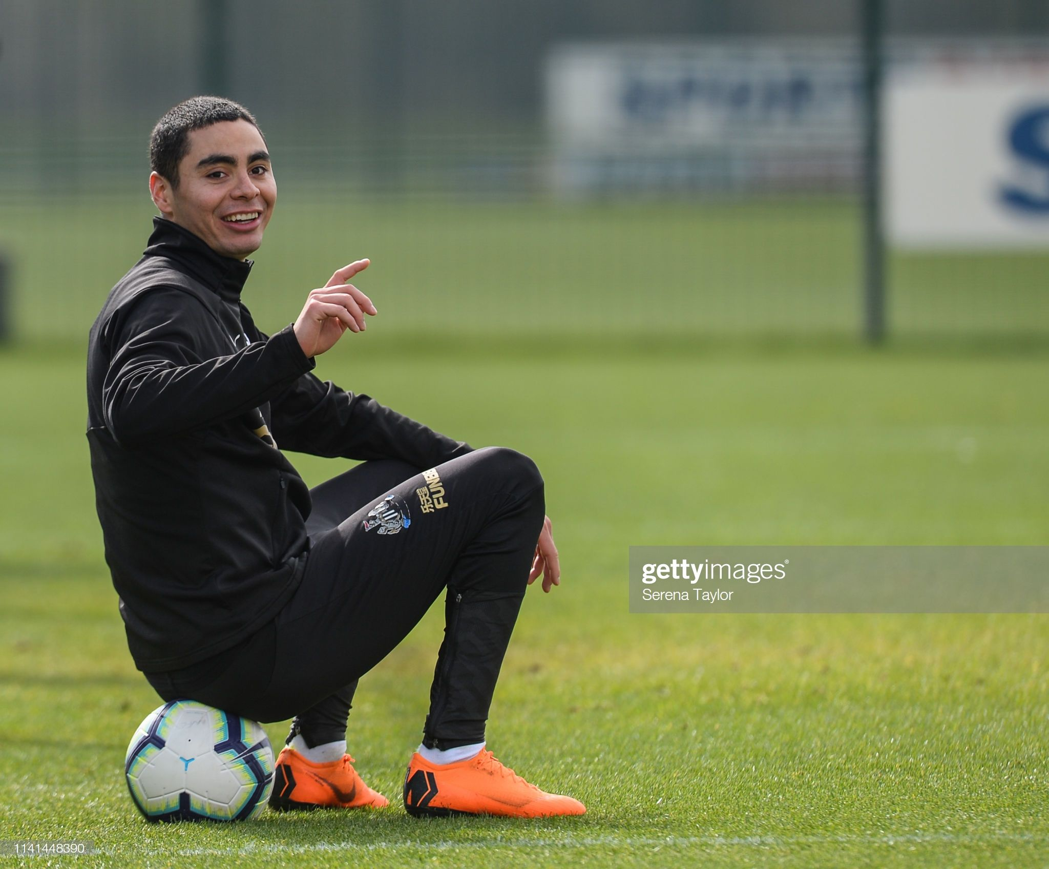 Miguel Almiron during the Newcastle United Training Session at the 2048x1696