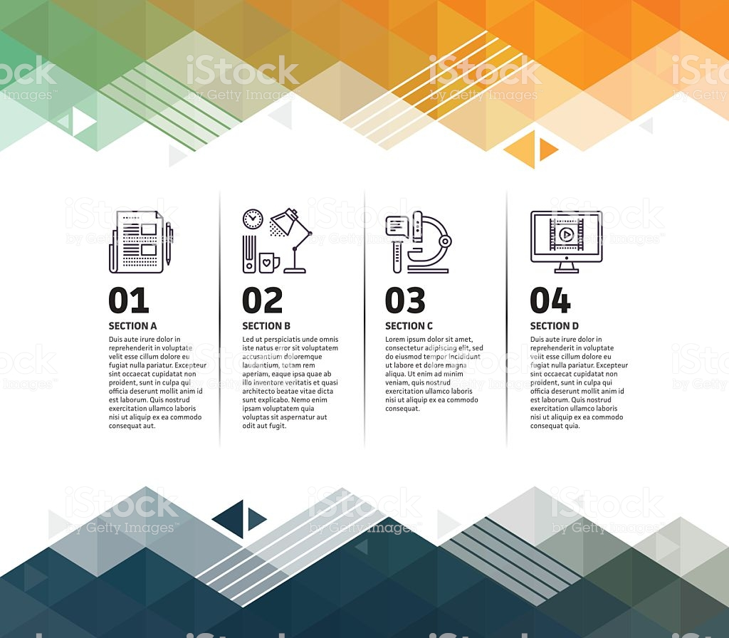 Research Infographic Abstract Background Stock Illustration 1024x896