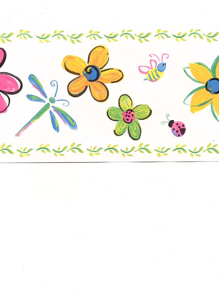 WARNER KIDS   DragonflyFlower Border 0744 MonsterMarketplacecom 720x960