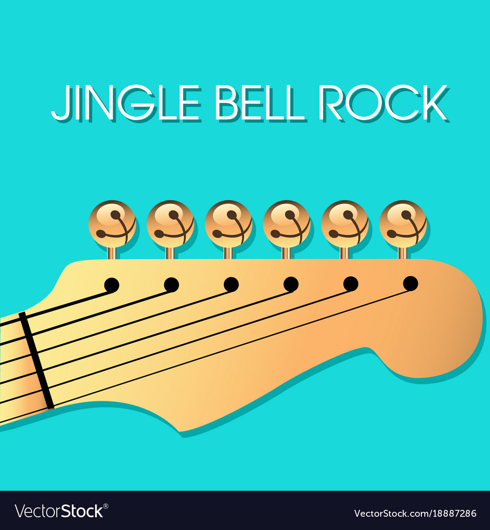 Jingle bell rock christmas background Royalty Vector 1000x1080