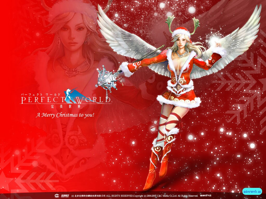 Christmas Red Angel Background Wallpapers here you can see Christmas 1024x768