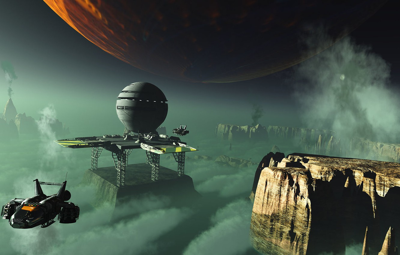 Wallpaper rocks planet object Forward Observation Point radar 1332x850