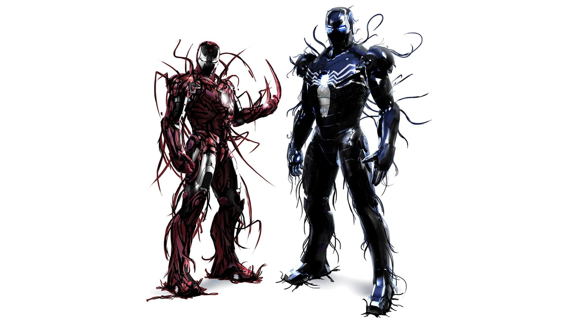 Wallpapers Iron Man Spawn Venom Carnage Marvel Comics symbiote 1920x1080
