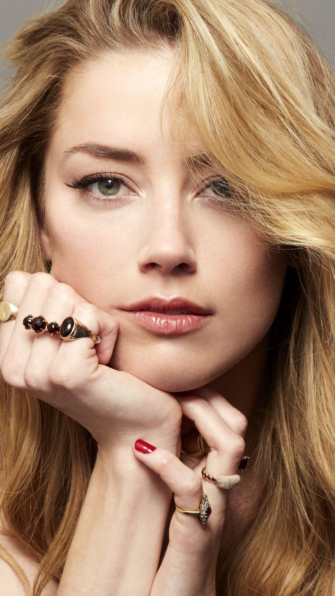 Amber Heard famous celebrity red head 1080x1920 wallpaper 1080x1920