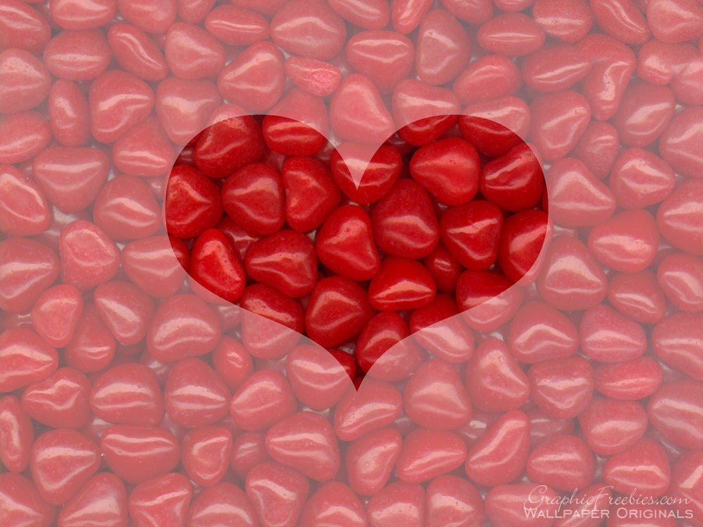 1024x768px Valentine S Day Candy Hearts Wallpaper Wallpapersafari