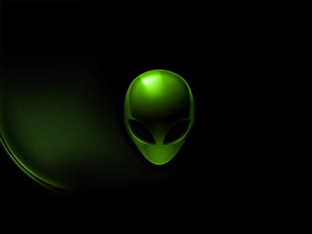 PC wallpaper desktop wallpaper Alienware Green 1024x768