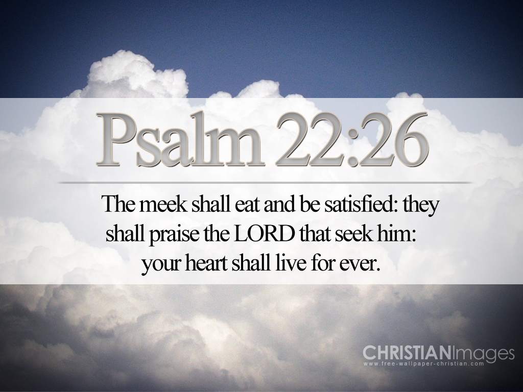 Christian Wallpaper download Psalm 22 26jpg 1024x768