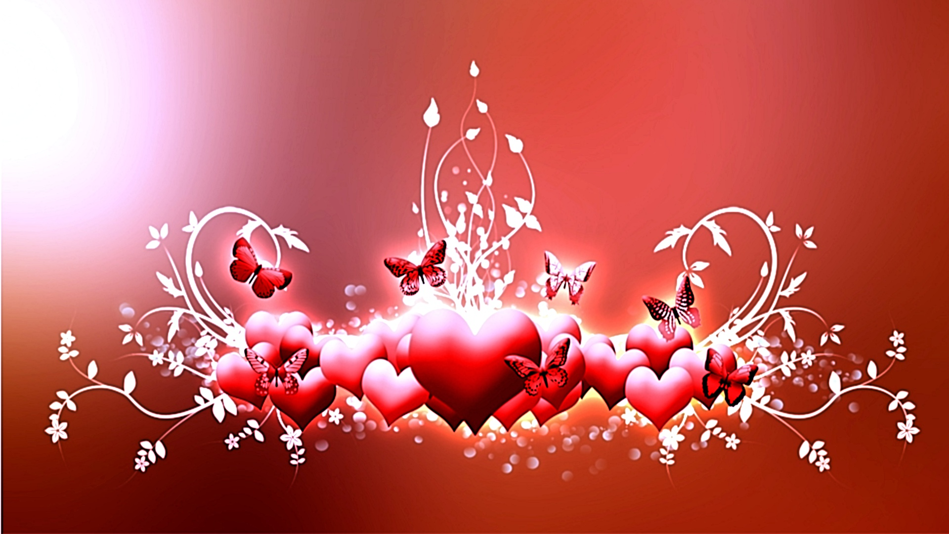Abstract Red Love Hearts id 20138 BUZZERG 1920x1080