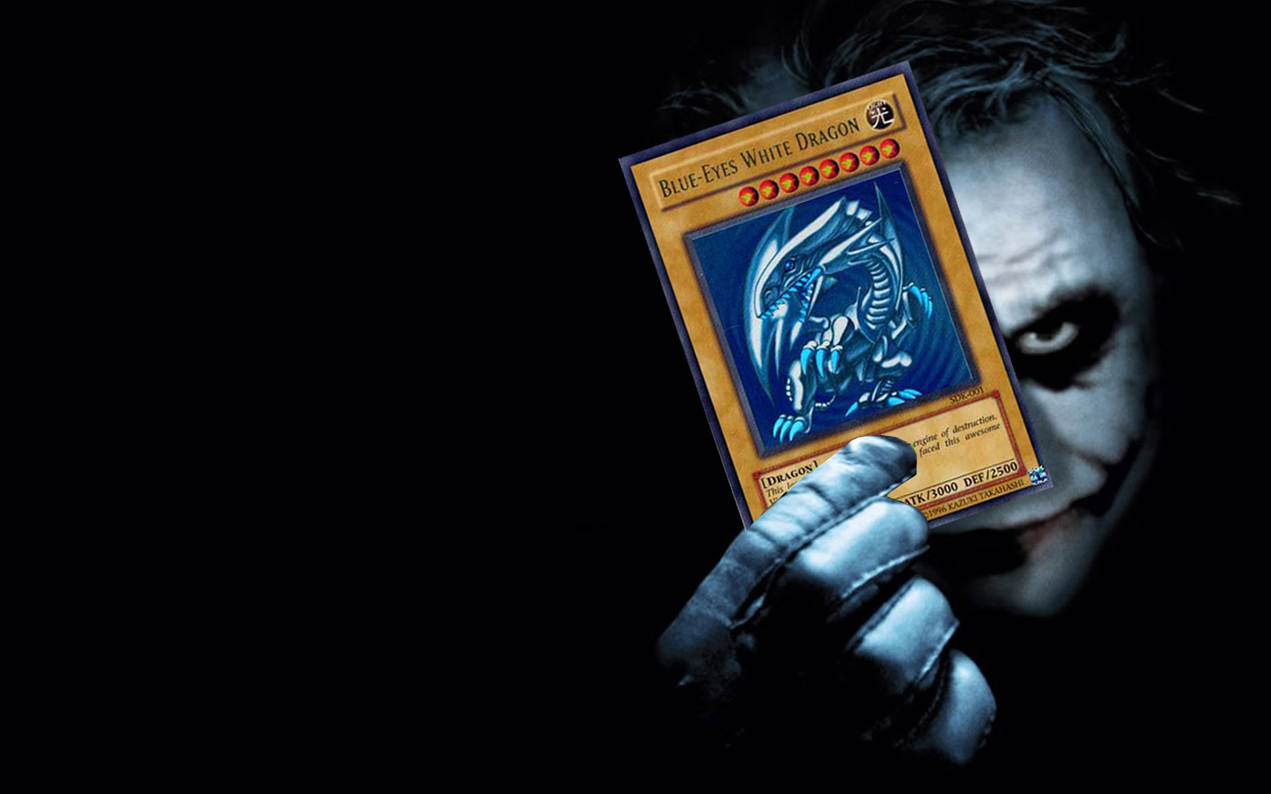 dark knight yu gi oh cards joker playing card wallpaper background 2560x1600