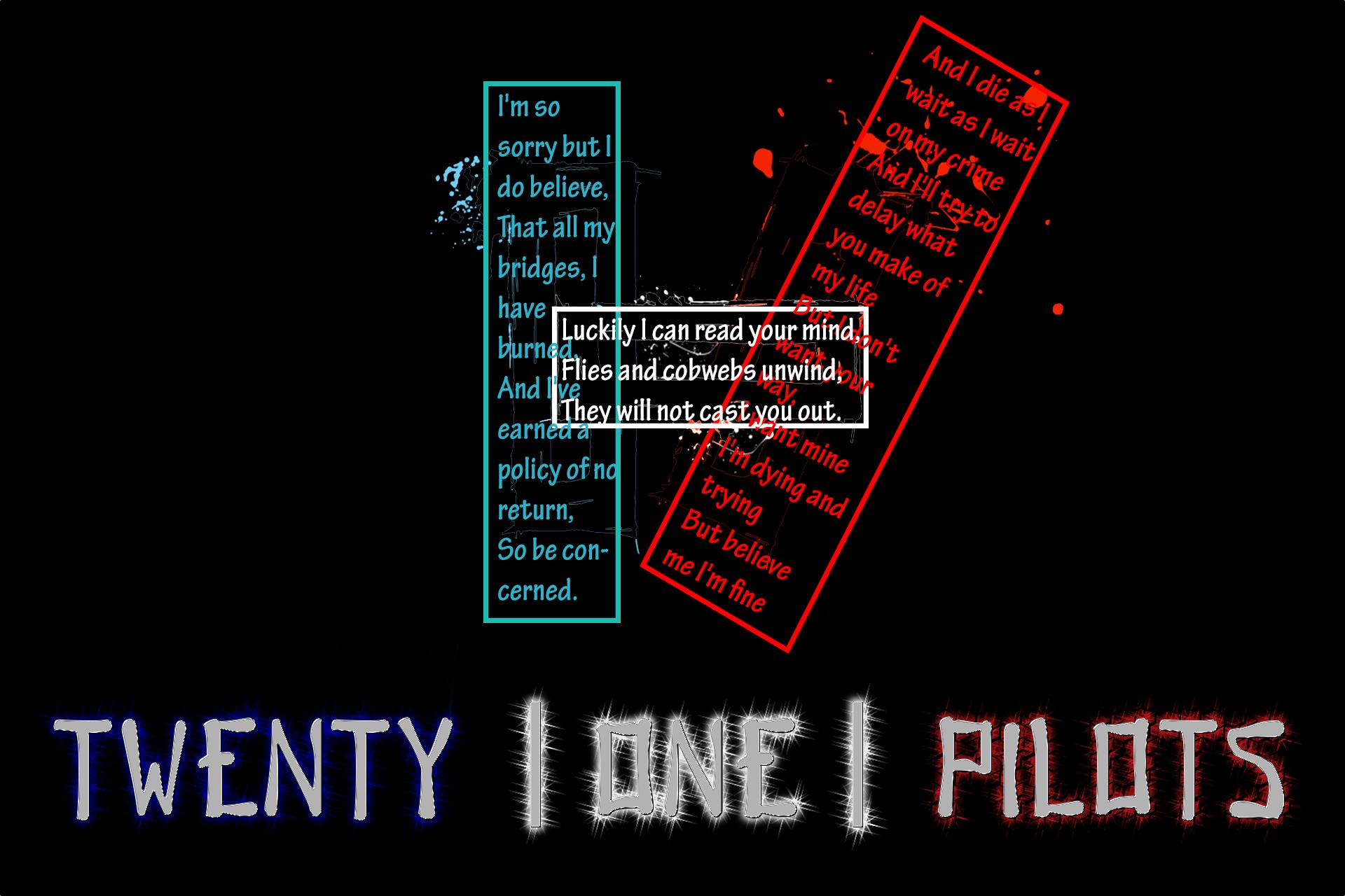 Twenty One Pilots Lyrics Wallpaper Wallpapersafari