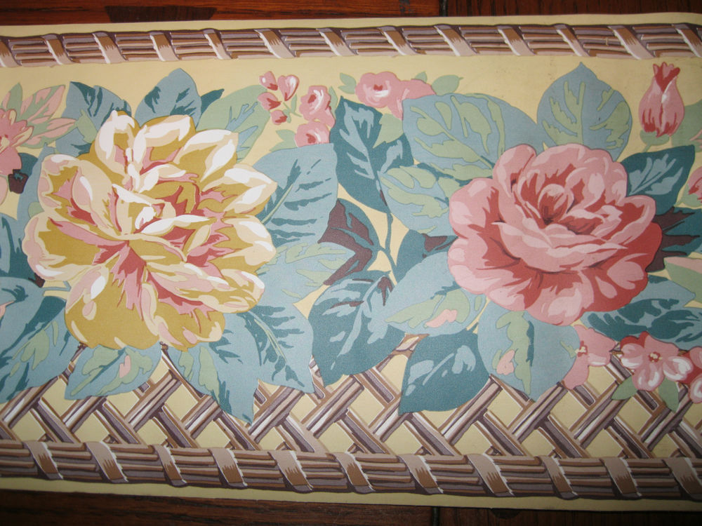 Trellis Lattice Beige Dark Yellow Wallpaper Border 1131B eBay 1000x750