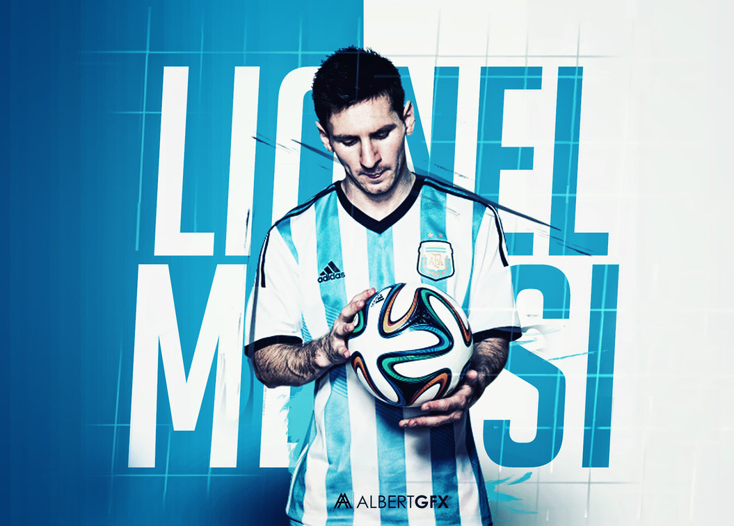 Argentina Flag With Messi