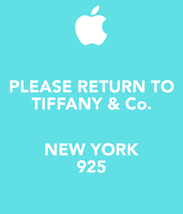 PLEASE RETURN TO TIFFANY Co NEW YORK 925   KEEP CALM AND CARRY ON 600x700