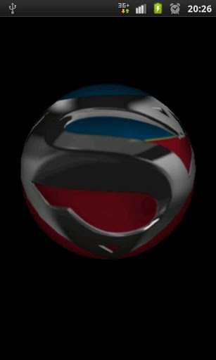 Superman 3D Logo Wallpaper cell phone app 307x512