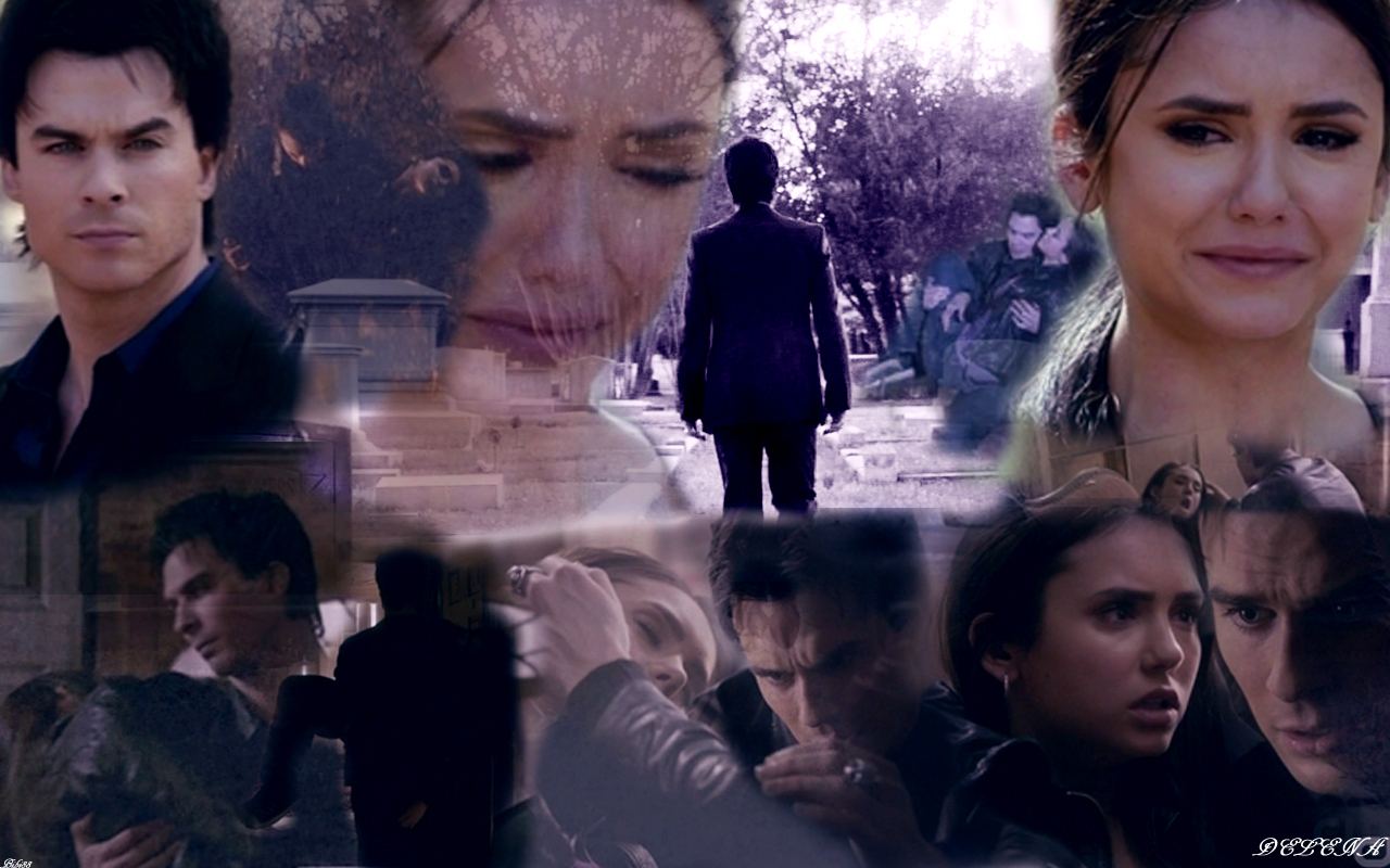 Damon Elena   The Vampire Diaries TV Show Wallpaper 21788024 1280x800