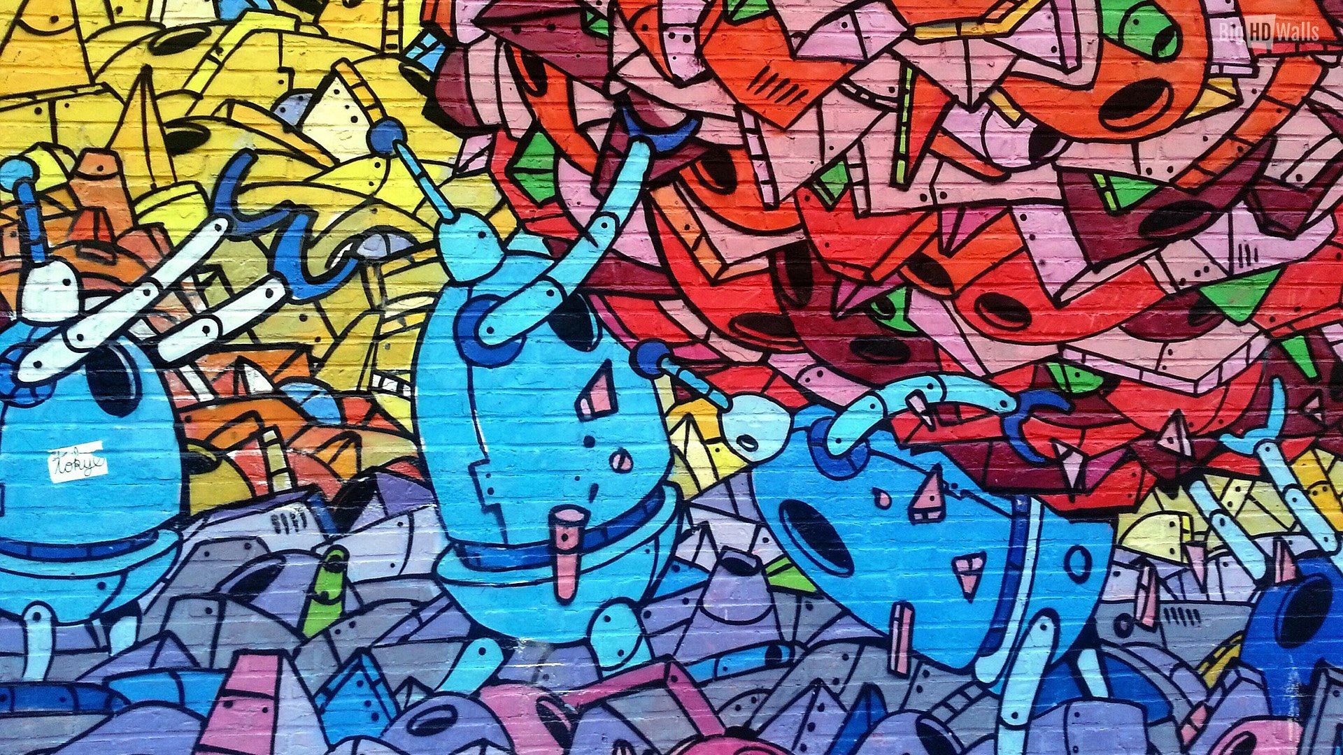 Abstract Graffiti Wallpaper 1920x1080