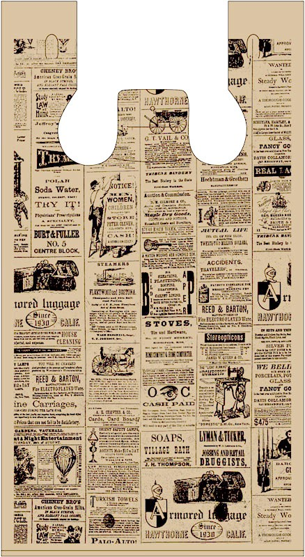 Vintage Newsprint 438x800