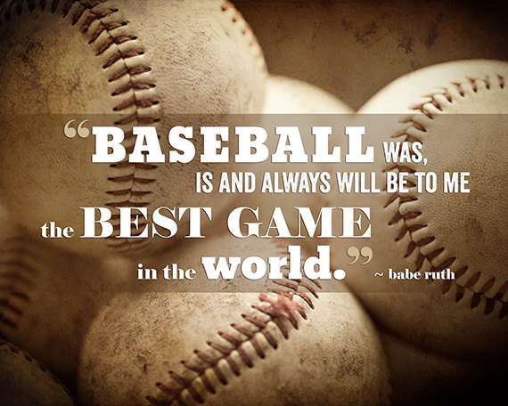 Gifts for Him Gifts for Boys Baseball Print by LisaRussoFineArt 570x456
