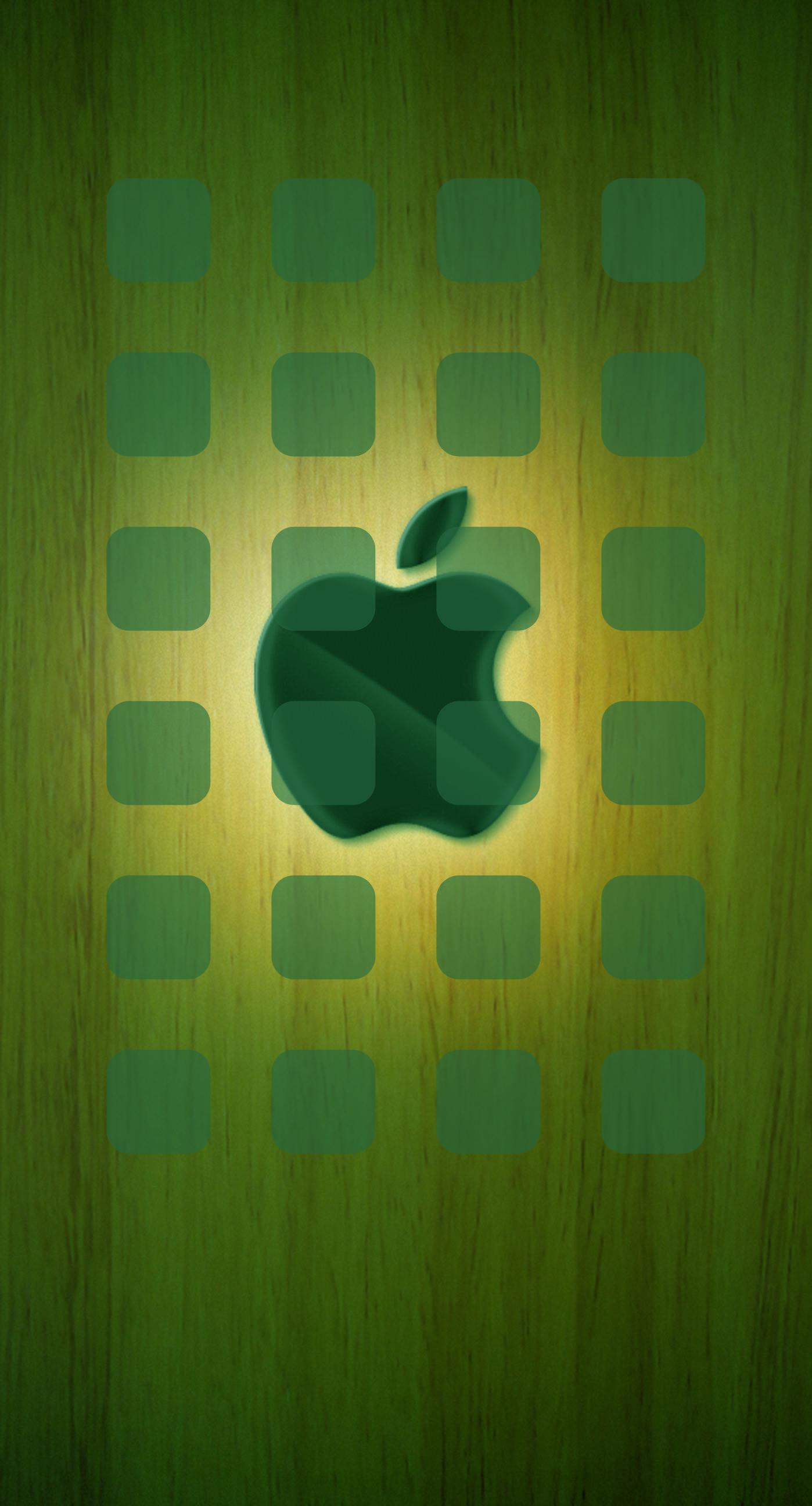 Apple logo shelf cool plate yellow green wallpapersc iPhone7Plus 1398x2592