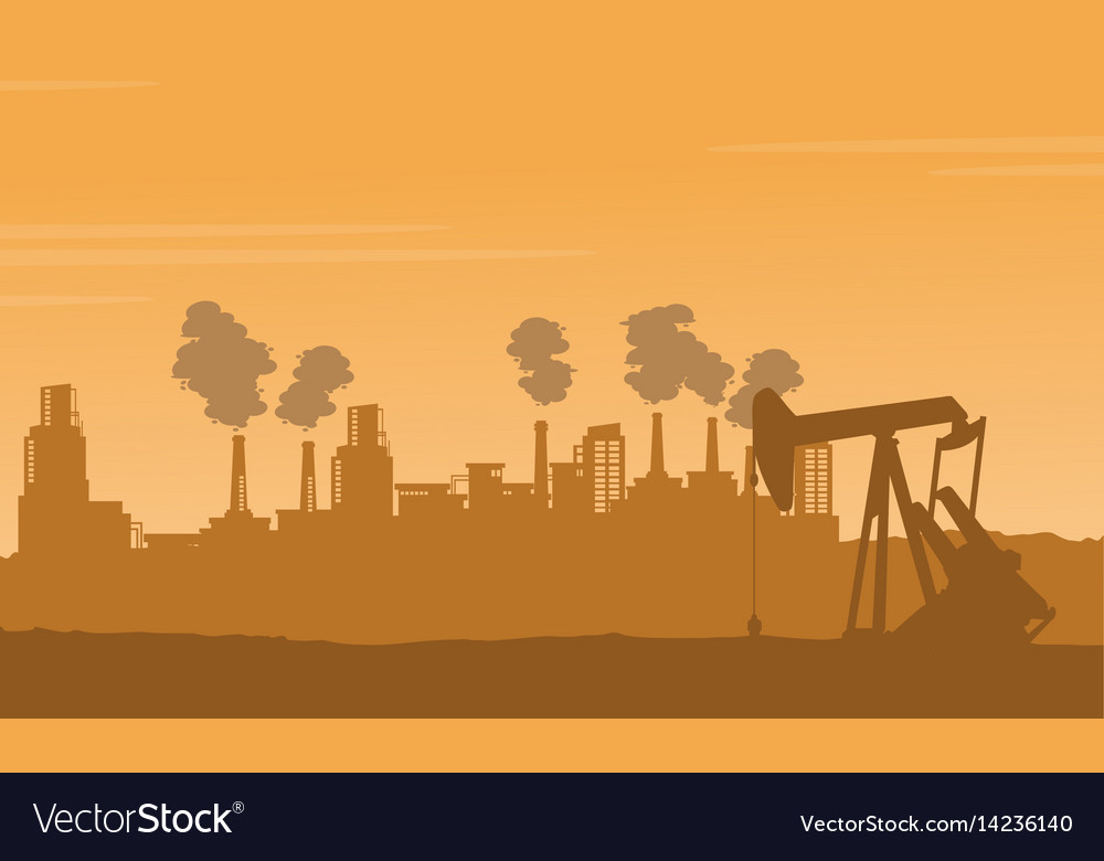 Background bad environement pollution industry Vector Image 1000x780