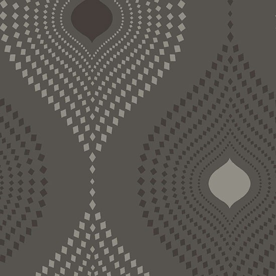 Tia Geometric Design Wallpaper Black Sample modern wallpaper 550x550