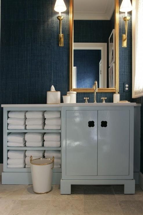 Dark Blue Bathroom Vanity   Design decor photos pictures ideas 493x740